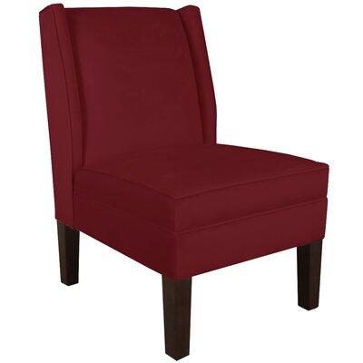 Velvet Wingback Chair Color: Velvet Berry