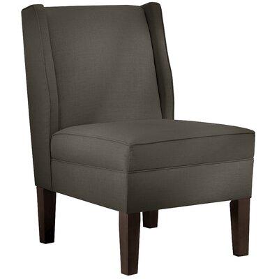 Wingback Chair Upholstery: Linen Slate