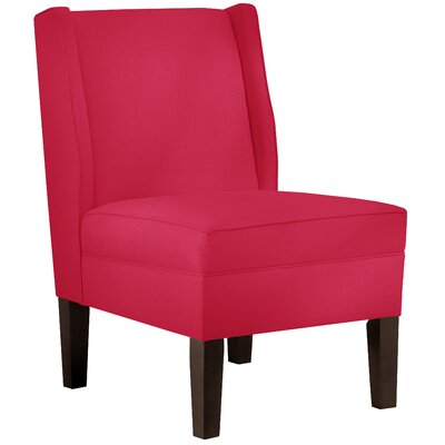 Wingback Chair Upholstery: Linen Fuschia
