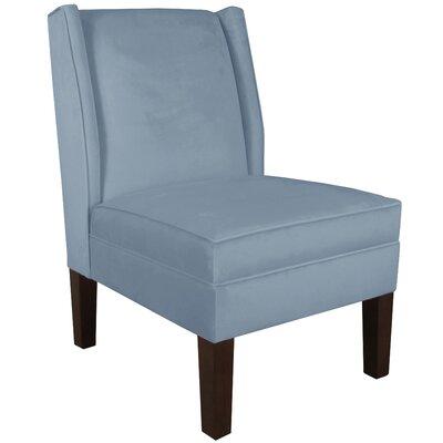 Wingback Chair Upholstery: Velvet Ocean