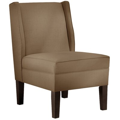 Wingback Chair Upholstery: Linen Taupe