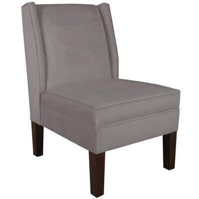 Wingback Chair Upholstery: Velvet Steel Grey