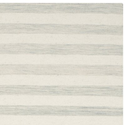 Crawford Hand-Woven Light Blue/Ivory Area Rug Rug Size: Runner 26 x 10