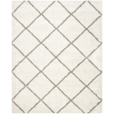 Lucina Ivory / Gray Area Rug Rug Size: 9 x 12