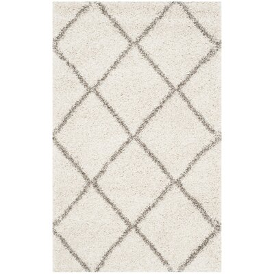 Lucina Ivory / Gray Area Rug Rug Size: 10 x 14
