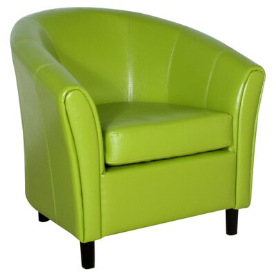 Karp Barrel Bonded Leather Lounge Chair Color: Lime Green