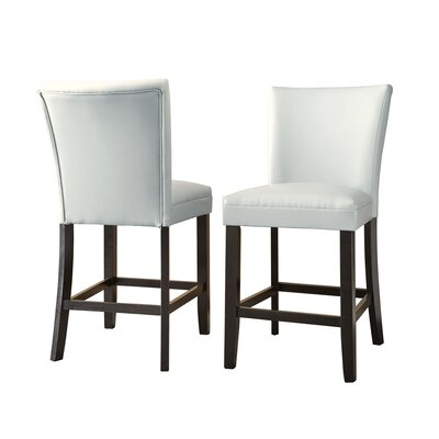 Mcneel Parsons Chair (Set of 2) Upholstery: White