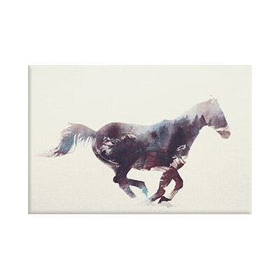 'Horse I' by Andreas Lie Graphic Art on Wrapped Canvas Size: 8