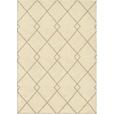 Mulloy Beige Area Rug Rug Size: 53 x 76