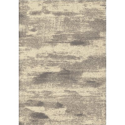 Mulloy Gray/Ivory Area Rug Rug Size: 5'3