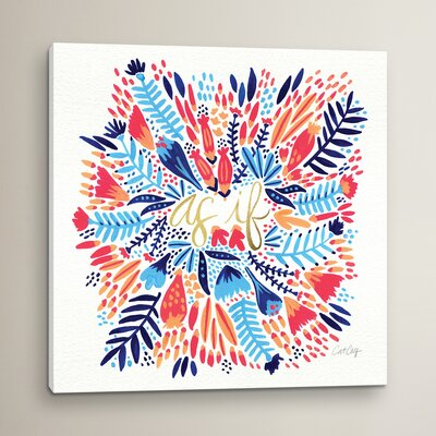 As If Multi White Artprint Graphic Art on Wrapped Canvas