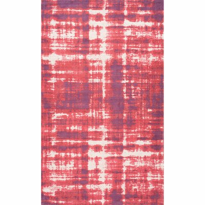 Aldan Red Area Rug Rug Size: Rectangle 76 x 96