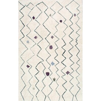 Alethea Hand-Tufted Light Beige Area Rug Rug Size: Rectangle 76 x 96