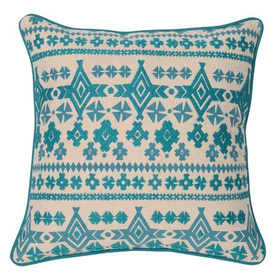 Virgil 100% Cotton Throw Pillow Color: Teal
