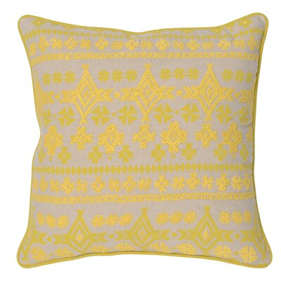 Virgil 100% Cotton Throw Pillow Color: Yellow