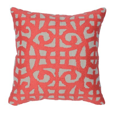 Virginis 100% Cotton Throw Pillow Color: Red