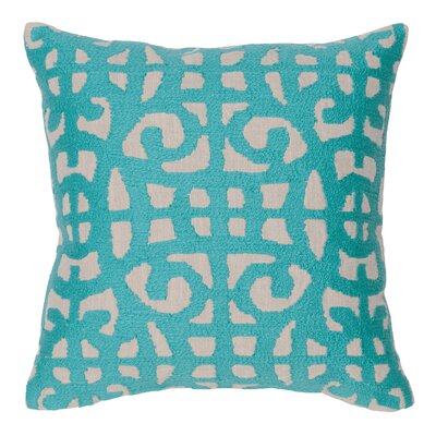 Virginis 100% Cotton Throw Pillow Color: Teal
