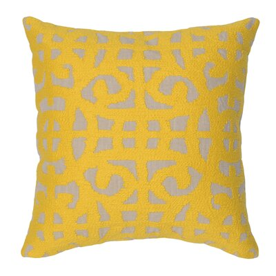 Virginis 100% Cotton Throw Pillow Color: Yellow