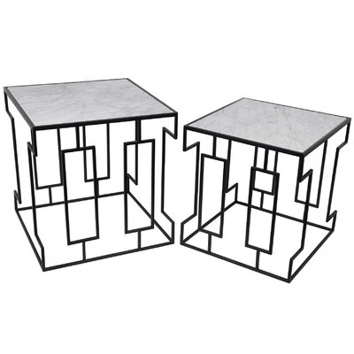Mathews 2 Piece Marble Nesting Tables