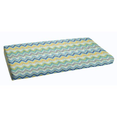 Indoor/Outdoor Bench Cushion Color: Pacific