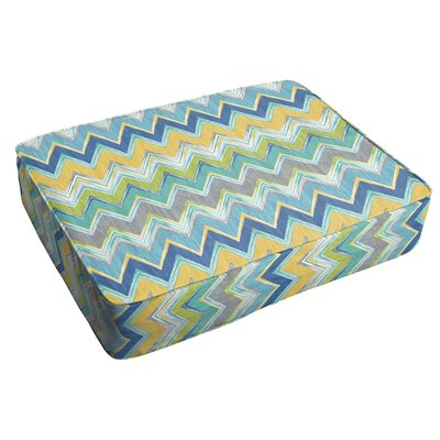 Murphree Chevron Corded Indoor/Outdoor Floor Cushion Color: Pacific