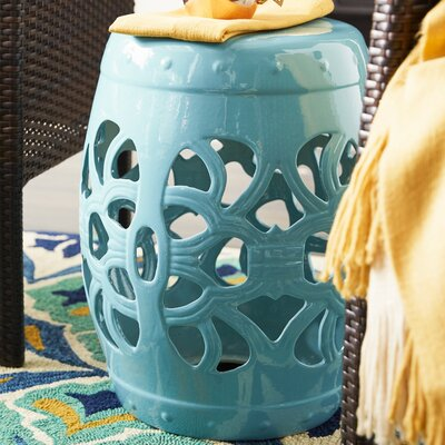 Morel Garden Stool Color: Light Blue