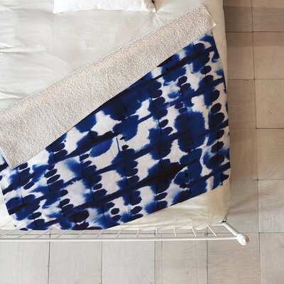 Fishel Parallel Sherpa Fleece Blanket