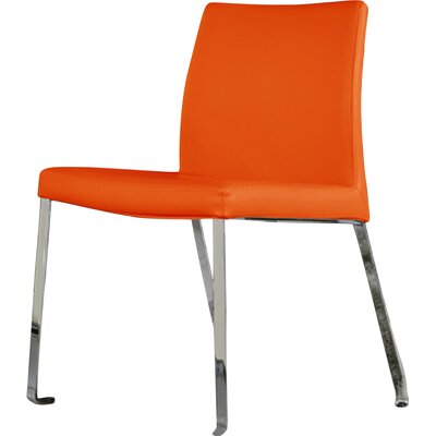 Riel Side Chair (Set of 2) Upholstery: Orange