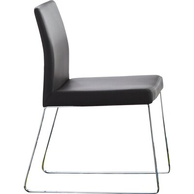 Riel Side Chair (Set of 2) Upholstery: Black