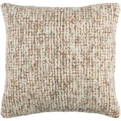 Agathon Wool Throw Pillow Color: Cream/Peach/Taupe