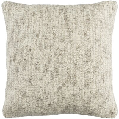 Agathon Wool Throw Pillow Color: Cream/Medium Gray/Taupe