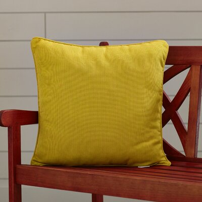 Allen Park Outdoor Throw Pillow Size: 20 H x 20 W x 4 D, Color: Gold