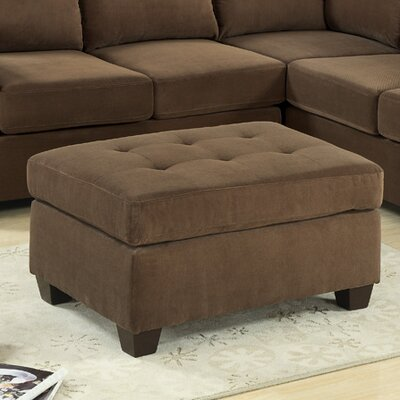 Darianna Ottoman Upholstery: Suede / Truffle