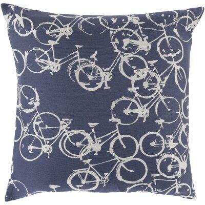 Alpha Throw Pillow Color: Blue/Gray