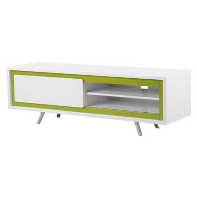 Buettner Glossy Lacquer 59 TV Stand Color: White/Green
