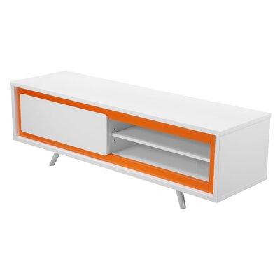 Buettner Glossy Lacquer 59 TV Stand Color: White/Orange