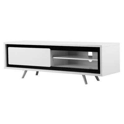 Buettner Glossy Lacquer 59 TV Stand Color: White/Black