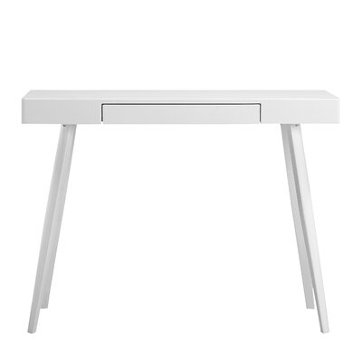 Buettner Glossy Lacquer Console Table Top Finish: White