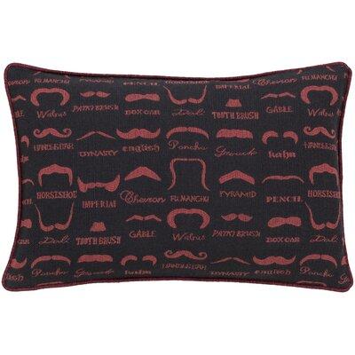 Alandra Polyester Lumbar Pillow Color: Red/Black