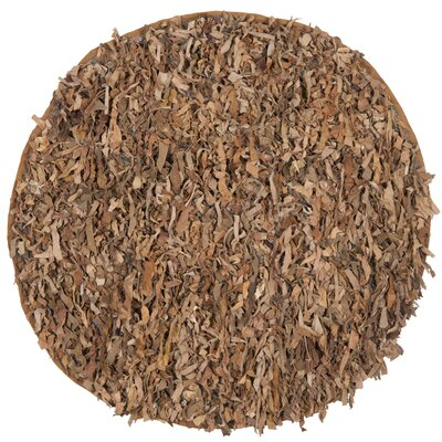 Eveland Brown Area Rug Rug Size: Round 6