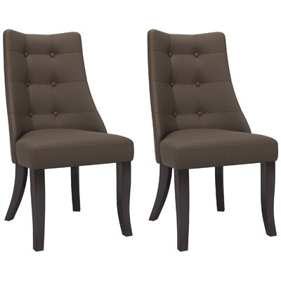 Iris Side Chair Upholstery: Brown