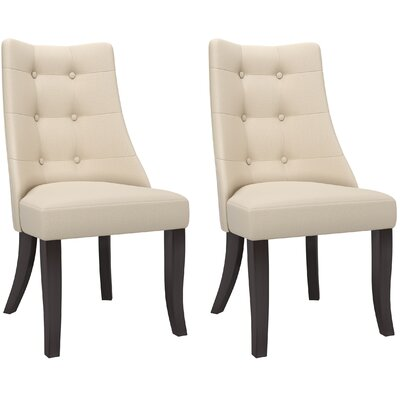 Iris Parsons Chair Upholstery: Cream