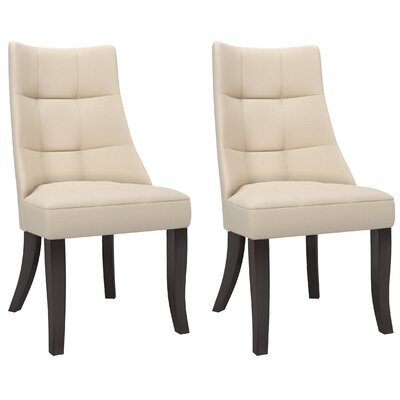 Iris Side Chair Upholstery: Cream