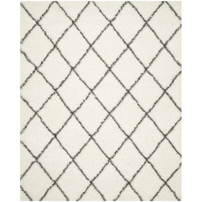 Sewell Moroccan Ivory/Gray Area Rug Rug Size: 8 x 10