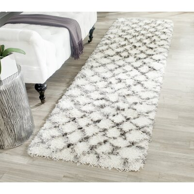 Sewell Moroccan Ivory/Gray Area Rug Rug Size: Runner 23 x 8