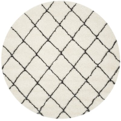 Sewell Moroccan Ivory Area Rug Rug Size: Round 5