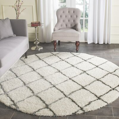 Sewell Moroccan Ivory Area Rug Rug Size: Round 7