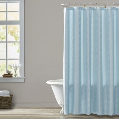 Masse Weave Shower Curtain Color: Blue