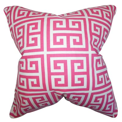 Blevins 100% Cotton Throw Pillow Color: Candy Pink, Size: 24 x 24