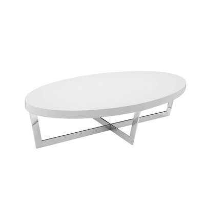 Dames Coffee Table Top Finish: White